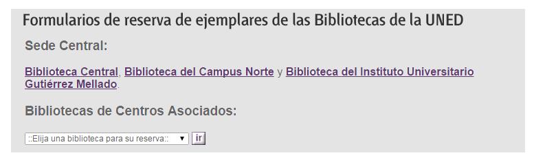 RESERVAS BIBLIOTECA UNED